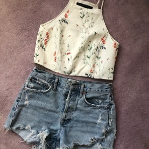 Zara women floral top